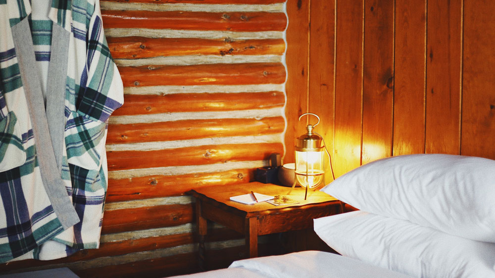 Log Cabin Guest Room