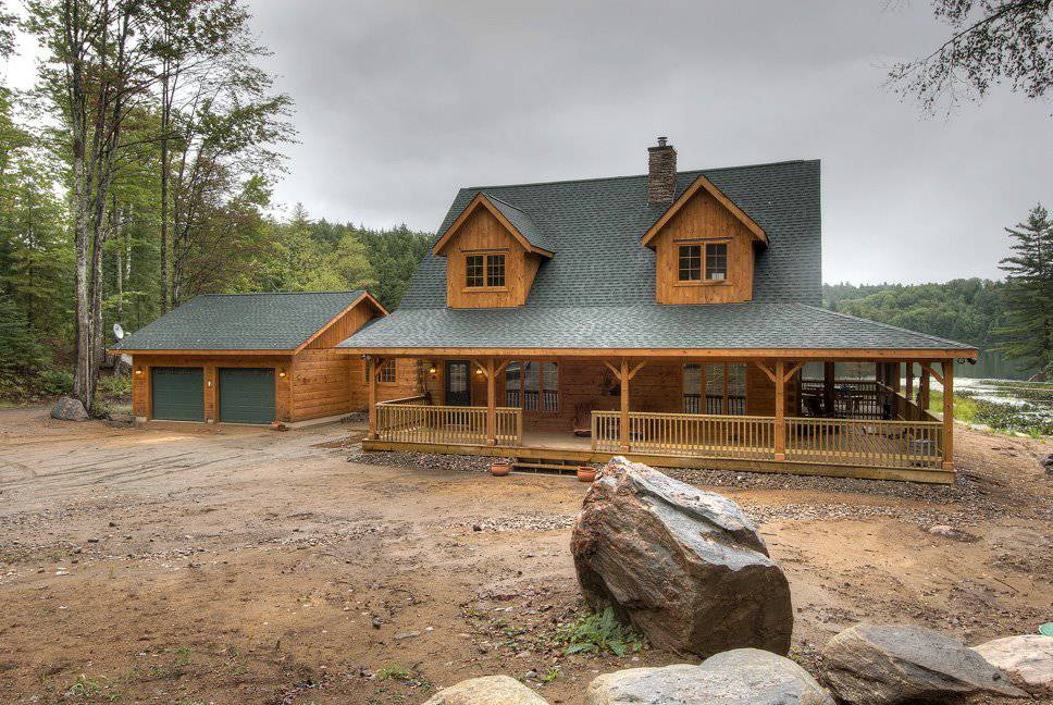 Beaver run log home floor plan by 1867 confederation for Modern log home plans