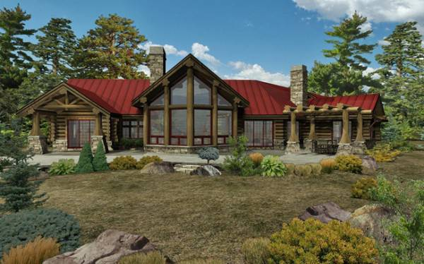 Ranch House Plans Log Home Ranches Page 2