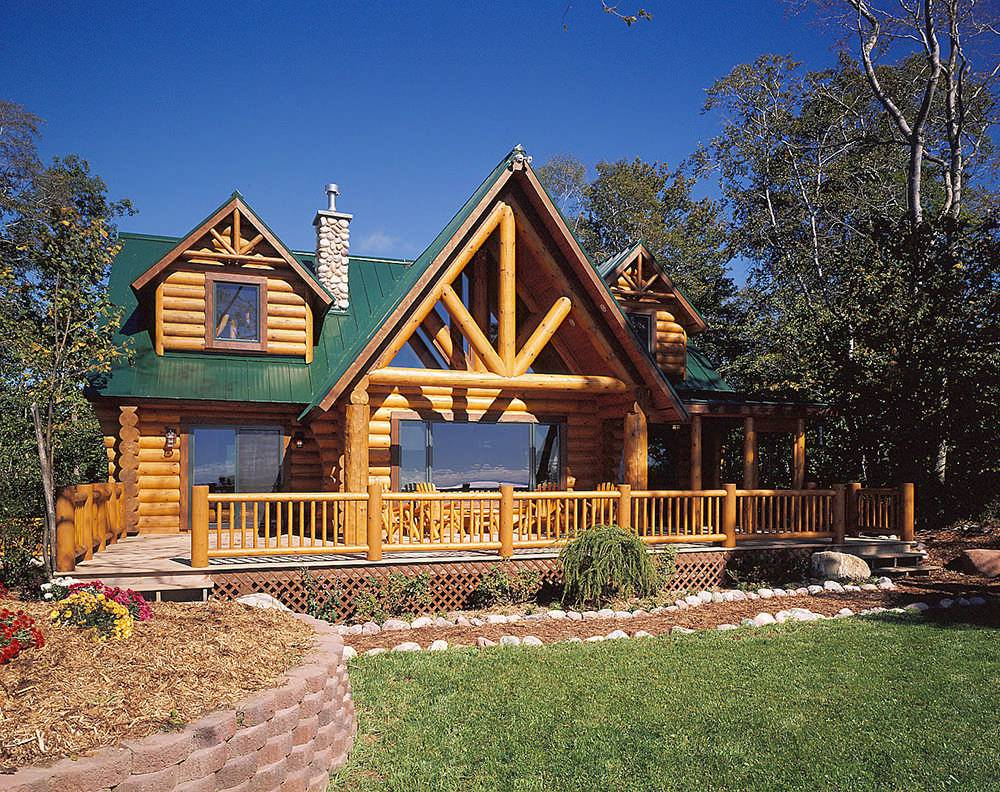 norway knight log home floor plan by hiawatha log home a b