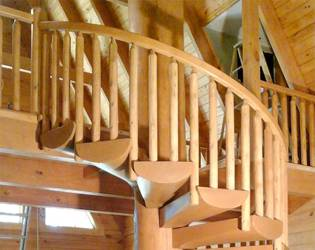cypress log home staircase