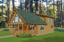 Log Cabin Floor Plans Small Log Homes