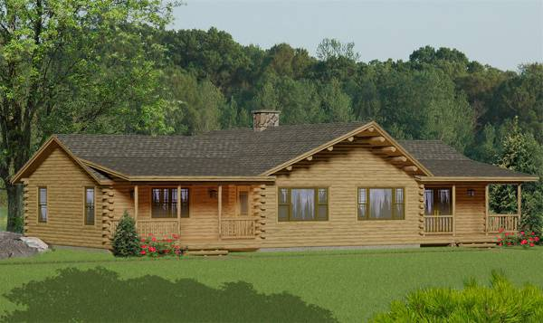 Ranch House Plans Log Home Ranches Page 3
